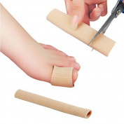 2 PCS LOTGO Large Toe Gel Tube Finger Protector Toe Separators for Bunions Sore Corns Hammertoes Gel Toe Separators Protector Toe Sleeves Protectors