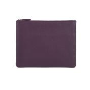 Medium Pouch - Full Grain Leather - Plum