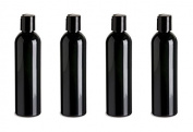4 Slimline Black PET Recycable Plastic Black Cap