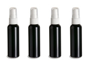 4 Black Slimline PET Plastic Recyclable Small 60ml