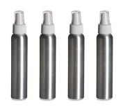 Aluminium Slimline Bottle with White Atomizer 120 ml