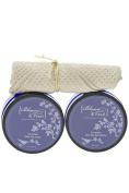 Blossom and Pearl French Lavender Deep Sea Cosmetics Bundle - Lavender Dead Sea Bath Salts, Lavender Dead Sea Scrub
