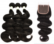 Ms Taj Virgin Remy Hair Body Wave Brazilian Hair 3 Bundles With Lace Closure 100% Unprocessed human hair extensions