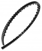 France Luxe Pull Through Narrow Headband - Black