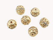 20PCS 12MM Gold Crystal Rondelle Ball Shape Spacer Bead Fire Ball for Jewellery Making DIY