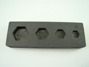 Hexagon Mould 1/4-1/2-1-60ml Gold Bar High Denisty Graphite -Silver- Copper
