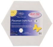 Bosal In-R-Form Hexagon Shape Placemat Craft Pack 38cm x 43cm - 0.6cm 4/pkg