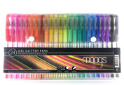 Gel Glitter Pens - 24 coloured pens all with glitter ink by moogs. Enjoy more high quality colour options with smooth and even flow. Free digital wallpaper for devices. MAKE AWESOME ART THAT POPS!
