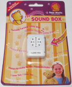 "BEAR WORKS SOUND BOX "" I LOVE YOU"" TEDDY BEARS, DOLLS, CRAFT PROJECTS"
