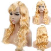 Cosplay Synthetic Full Wig with Bangs 20 Styles Heat Resistant Fibre Vogue Long Curly Wavy Layered 48cm / 48cm for Women Girls Lady Halloween Anime Costume Party Date,Light Blonde