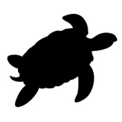 Pack of 3 Turtle Stencils Made from 4 Ply Mat Board 11x14, 8x10, 5x7