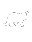 Pack of 3 Triceratops Stencils Made from 4 Ply Mat Board 11x14, 8x10, 5x7