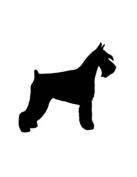 Pack of 3 Schnauzer Stencils Made from 4 Ply Mat Board 11x14, 8x10, 5x7