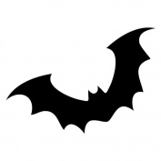 Pack of 3 Bat Stencils Made from 4 Ply Mat Board 11x14, 8x10, 5x7