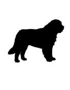 Pack of 3 Saint Bernard Dog Stencils Made from 4 Ply Mat Board 11x14, 8x10, 5x7