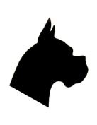 Pack of 3 Boxer Dog Stencils Made from 4 Ply Mat Board 11x14, 8x10, 5x7