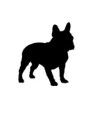 Pack of 3 Boston Terrier Stencils Made from 4 Ply Mat Board 11x14, 8x10, 5x7