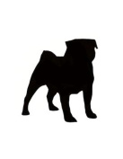 Pack of 3 Pug Dog Stencils Made from 4 Ply Mat Board 11x14, 8x10, 5x7