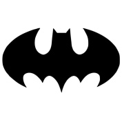 Pack of 3 Bat Symbol Stencils Made from 4 Ply Mat Board 11x14, 8x10, 5x7