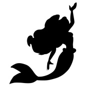 Pack of 3 Mermaid Stencils Made from 4 Ply Mat Board 11x14, 8x10, 5x7