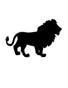 Pack of 3 Lion Stencils Made from 4 Ply Mat Board 11x14, 8x10, 5x7