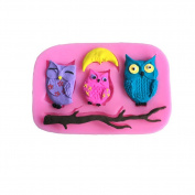 Dutch Brook Silicone Owl and Tree Branch DIY 3D Chocolate Cake Candy Fondant Baking Mould