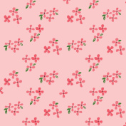 Blossoms - Bloom - Monaluna Fabrics - ORGANIC COTTON - BL-02-BLT - Pink Flowers Nursery