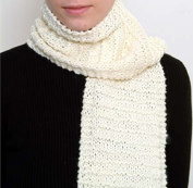 """""""Beginner's Scarf"""" Knit Kit with Encore Worsted Yarn - FAWN BROWN"""