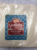 Aida 14 Count - Cream - 30cm x 46cm - Cross Stitch Fabric by Cambridge