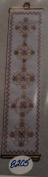Rose Filigree Spheres Cross Stitch Bell Pull by BJ Designs Kit #8205
