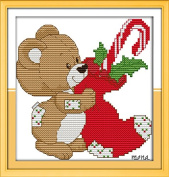 Queenlink 11CT Christmas Sock Cross Stitch Embroidery Diy Sewing Kit