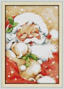 Queenlink 11CT Santa Claus Christmas Cross Stitch Embroidery Diy Sewing Kit