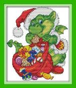 Queenlink 11CT Christmas SnakeCross Stitch Embroidery Diy Sewing Kit