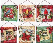 Dimensions Counted Cross Stitch kit 11cm POSTAGE ORNAMENT Set of 6 #70-088