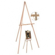 Bi-Silque Visual Communication Products FLX06203MV Oak Display Tripod Easel, 150cm ., Wood & Brass