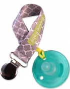 Bazzle Baby Paci Loop Pacifier Holder, Grey Lattice