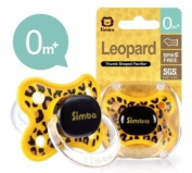 Simba Thumb Shaped Pacifier, Leopard Spots, 0+ Months