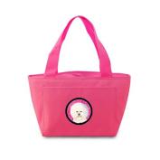 Caroline's Treasures SS4802-PK Bichon Frise Lunch or Doggie Bag, Large, Pink