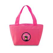 Caroline's Treasures LH9380PK Min Pin Lunch or Doggie Bag, Large, Pink