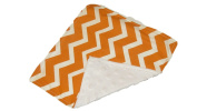 Jojo's Boutique Chevron Lovey Blanket, Orange and White
