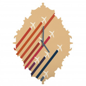 DENY Designs Budi Kwan aerial Display Baroque Clock, Small