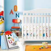 New Baby Animal Letter 9pcs Crib Bedding Set with musical mobile