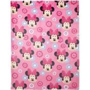 Disney Minnie Mouse Plush Printed Blanket 100-% polyester