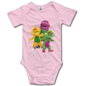 Barney And Friends Unisex For Cute Kids Baby Bodysuits