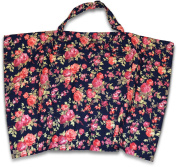 Vintage Navy Floral Nursing Cover with Built In Burp Cloth for Breastfeeding Infants | FREE Matching Pouch | Peekaboo OpeningTM for Baby Eye Contact | Cover Ups Newborn and Mother for Privacy