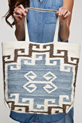 Vintage Style Carpet Tote - Very Free People Look - Oversized