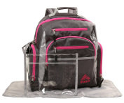 RBX Backpack Nappy Bag, Grey/Pink