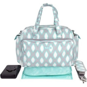 iPack Baby Deluxe Nappy Duffel Nappy Bag Set, Grey/Teal