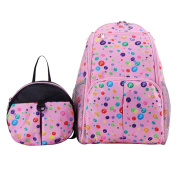 Multifunction Baby Nappy Backpack,BBDI Waterproof Baby Bag with Anti-lost Backpack - Rosy