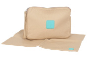 Posh Play - Luxury Nappy Clutch and Changing Pad Set - Beige